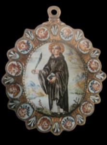 Medalla Holandesa decorada con esmalte cerca de 1630